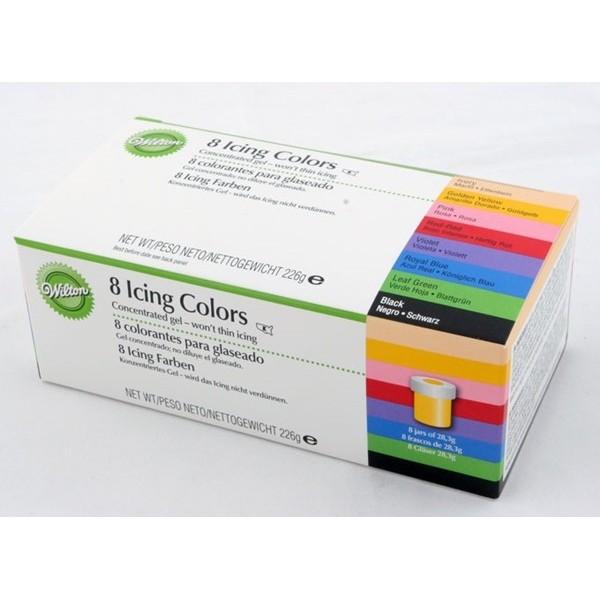 Zestaw barwników spożywczych Wilton - 8 szt.