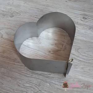 Rant do ciast i tortów DOROSIOWE RANTY serce wys. 8 cm - 10 porcji