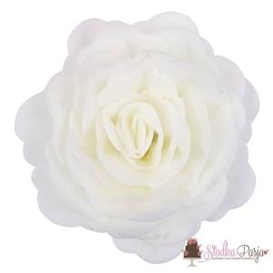 Dekoracja na tort kwiat róża chińska białawaflowa - 1 szt