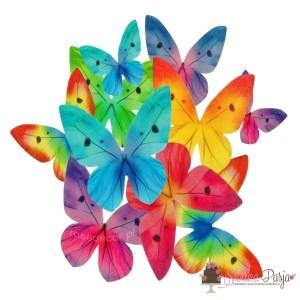 Dekoracja na tort Motyle mix kolorów - 87 szt