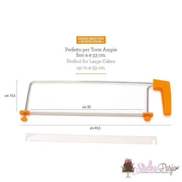 Nóż regulowany do cięcia biszkoptów Decora - 33 cm