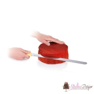 Nóż ząbkowany do cięcia biszkoptów Tescoma - 30 cm
