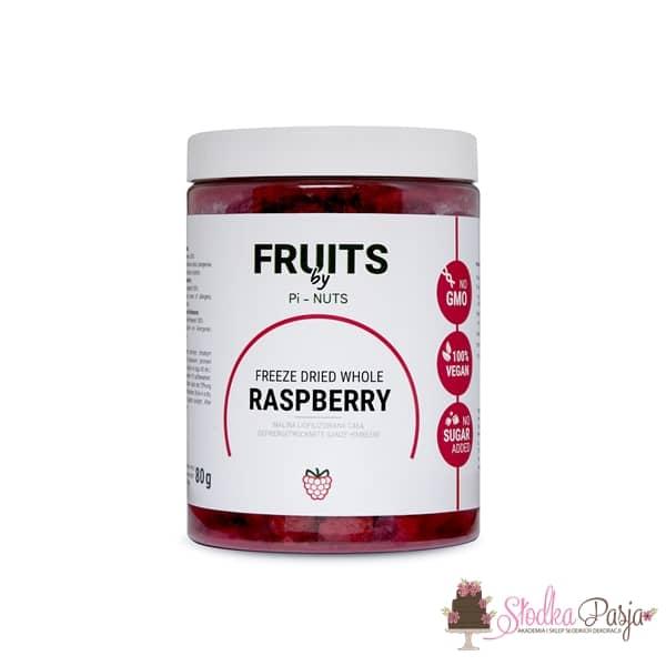 Owoce liofilizowane Pi-Nuts - Malina cała 80 g