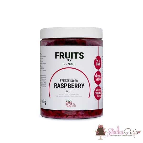 Owoce liofilizowane Pi-Nuts - Malina grys 150 g
