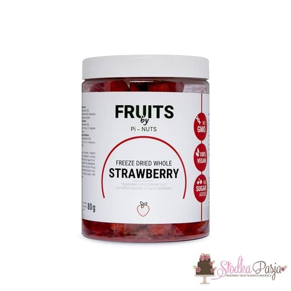 Owoce liofilizowane Pi-Nuts - Truskawka cała 80 g
