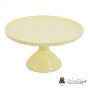 Patera na tort 23 cm żółta
