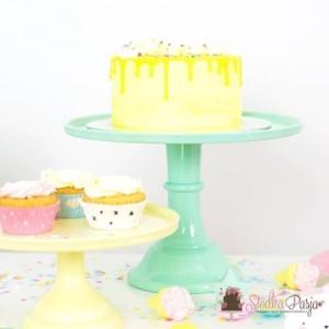 Patera na tort 30 cm - miętowa