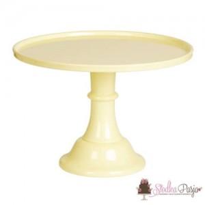 Patera na tort 30 cm - żółty