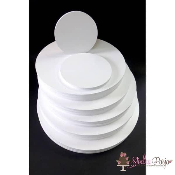 Podkład pod tort Aleksander Print grubość 1 cm biały okrągły- 22cm