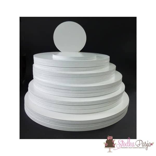 Podkład pod tort Aleksander Print grubość 1 cm biały okrągły - 26cm