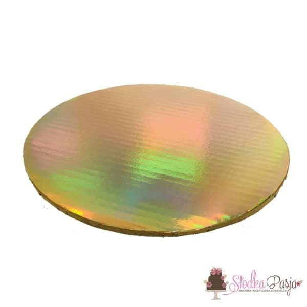 Podkład pod tort 30cm - holograf złoto