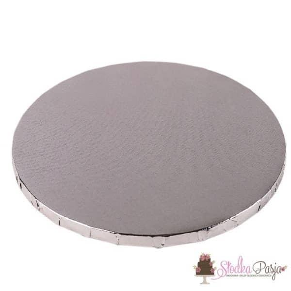 Podkład pod tort okrągły 35cm - srebrny