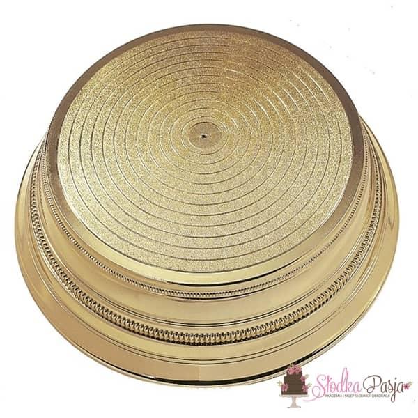Podstawa pod tort okrągła, średnica 35 cm ZŁOTA
