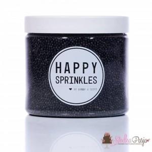 Posypka cukrowa Happy Sprinkles Black Simplicity 90 g - czarna