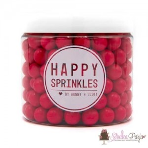 Posypka cukrowa Happy Sprinkles Hot Pink Choco M 90 g - fuksja
