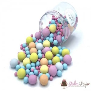 Posypka cukrowa Happy Sprinkles Bubble Gum Choco Crunch 135 g - kolorowa