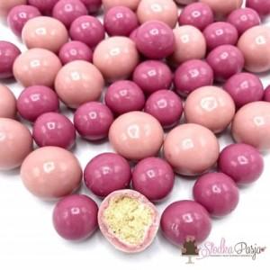 Posypka cukrowa Happy Sprinkles Yogurt Crispy Pearls 110g - odcienie różu