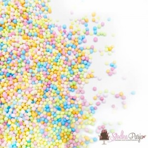 Posypka cukrowa Happy Sprinkles Pastell Simplicity 90 g - pastelowa