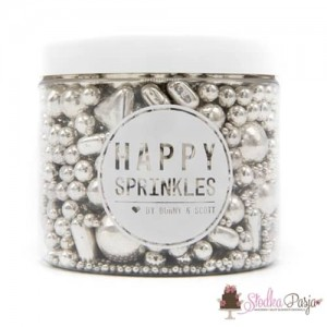 Posypka cukrowa Happy Sprinkles Silver Explosion 195 g - srebrna