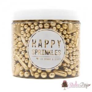 Posypka cukrowa Happy Sprinkles Vintage Gilding 200 g - złota