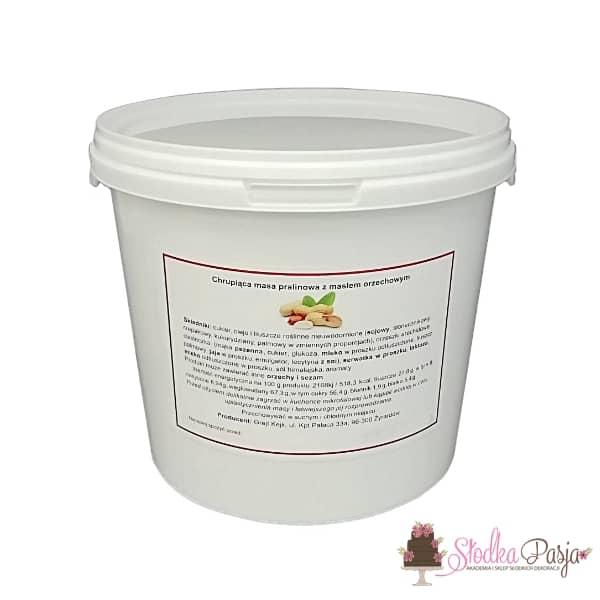 Pralina Grejt Kejk masło orzechowez herbatnikami croquant - 0,5 kg