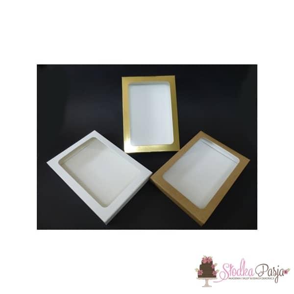 Pudełeczko z okienkiem na ciasteczka EKO- 25x17x2
