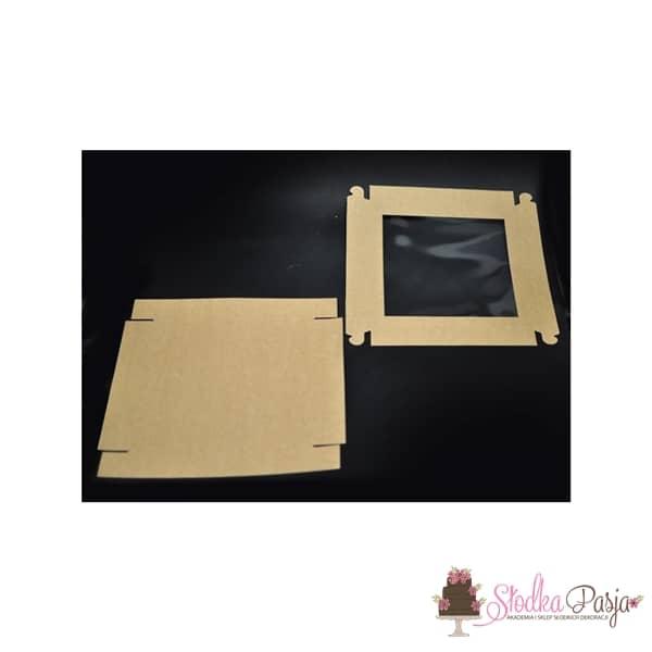 Pudełeczko z okienkiem na ciasteczka EKO- 25x25x4