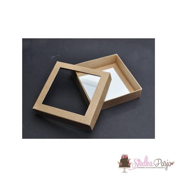 Pudełeczko z okienkiem na ciasteczka EKO- 12x12x3