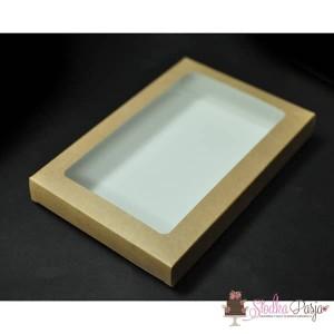 Pudełeczko z okienkiem na ciasteczka EKO - 15X21X2