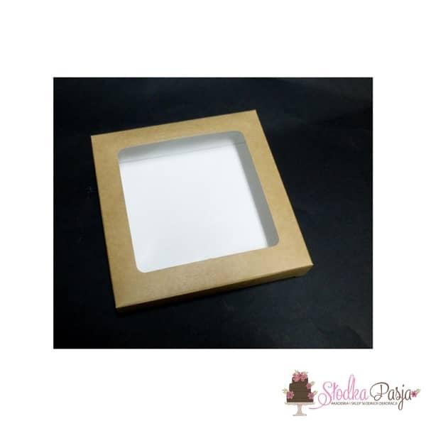 Pudełeczko z okienkiem na ciasteczka EKO - 15x15x2