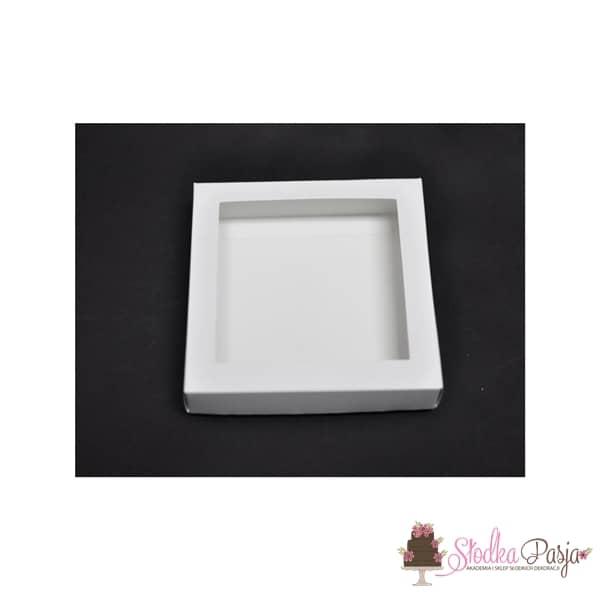 Pudełeczko z okienkiem na ciasteczka białe- 21X21X2