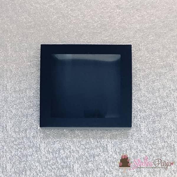 Pudełeczko z okienkiem na ciasteczka czarne- 15x15x2
