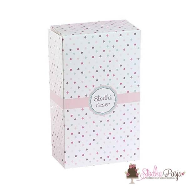 Pudełko cukiernicze w kropki - 125x210x70