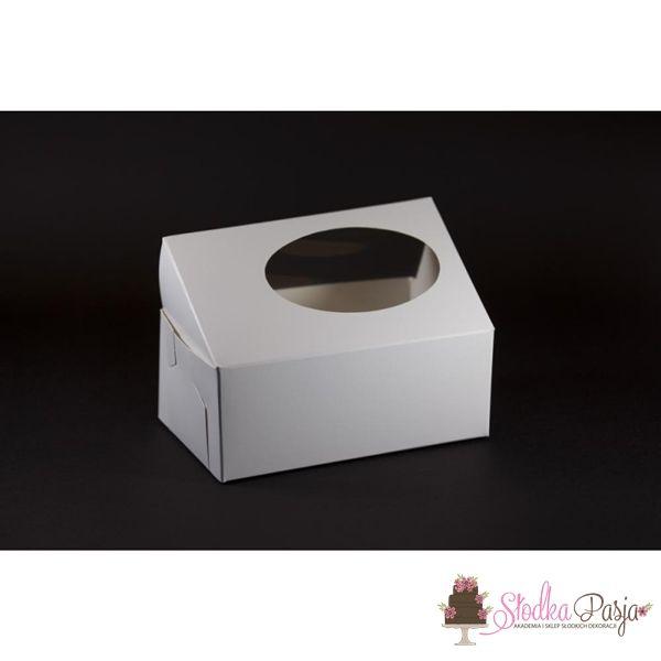 Pudełko na ciastka z okienkiem 170x110x70