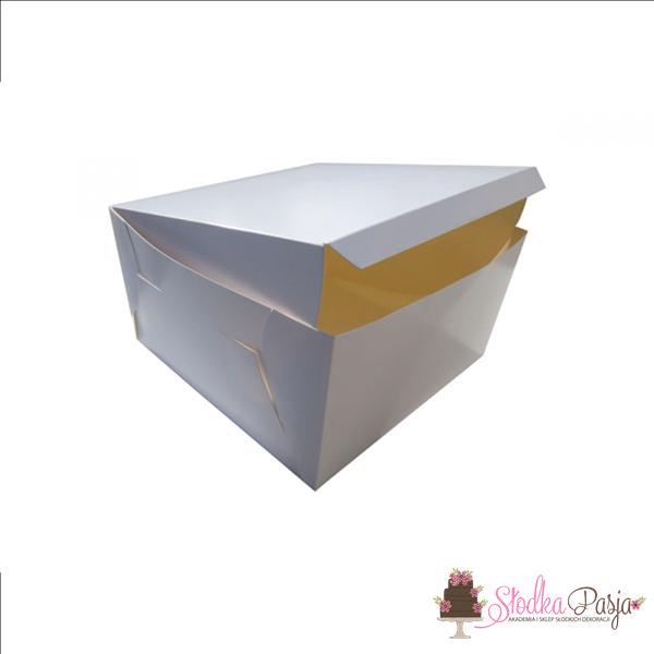 Pudełko na tort 25x25x12 białe