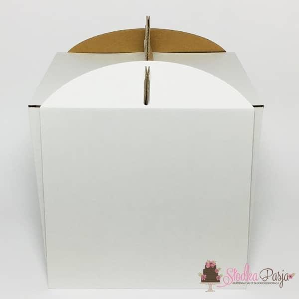 Pudełko na tort BARDZO WYSOKIE z uchwytem 26x26x32cm