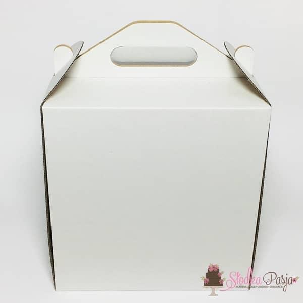 Pudełko na tort bardzo wysokie z uchwytem 30x30x32cm