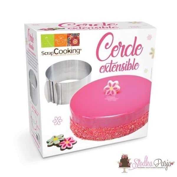 Rant do ciasta okrągły regulowany SCRAPCOOKING