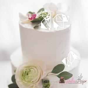 Toppery na tort 3 szt. MM zwierzątka7cm - białe