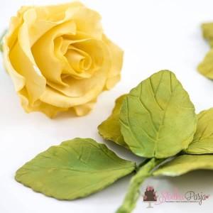Wykrawaczki Liście Róży Decora - 4 szt