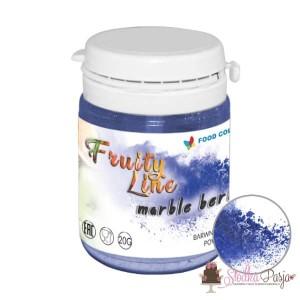 Barwnik spożywczy naturalny w proszku niebieski - marble