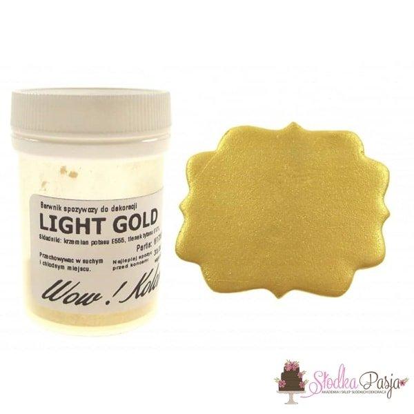 Brokat spożywczy Wow Kolor złoty - Light Gold