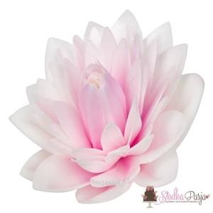 Dekoracja na tort kwiat Dalia cieniowany róż waflowa - 1 szt