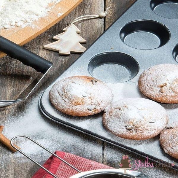 Forma blacha teflonowa na 12 muffinek