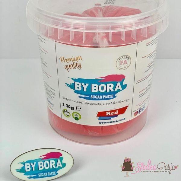 Masa cukrowa By Bora czerwona 1kg
