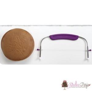 Nóż strunowy do cięcia ciasta tortu biszkoptu