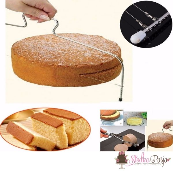 Nóż strunowy do cięcia ciast tortów biszkoptów - 31 cm
