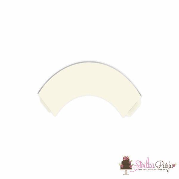Papilotki na muffinki Elegant Bliss kolor jasny kremowy 6 szt.