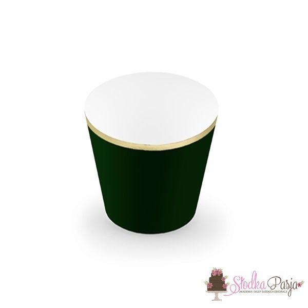 Papilotki na muffinki Elegant Bliss butelkowa zieleń 6 szt.