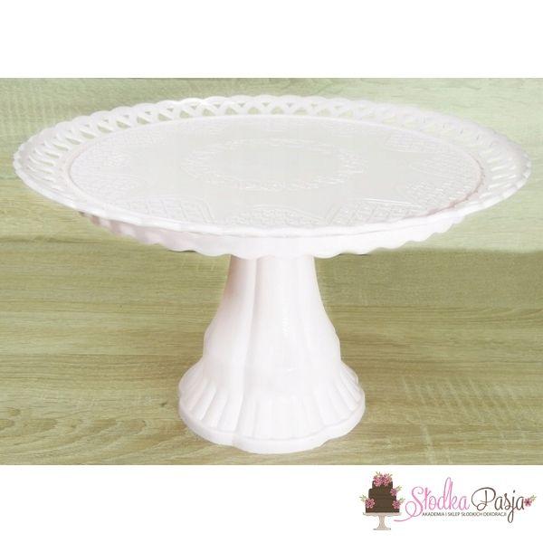 Patera na ciasto tort 31 cm - biała